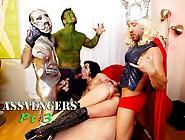 Superhero Scarlet Bitch Uses Pussy Powers To Defeat Hardon