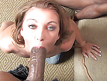 Exquisite Honey White Gets Gangbanged By Several Black Cocks