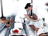 Foxy Nurse Gets Treated To 2 Cocks