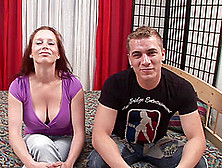Naturally Busty Hussy Carol Lets A Guy Fuck Her Hairy Cunt From
