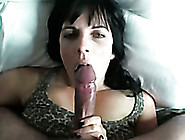 Black Haired Bitch Sucks The Head Of My Dick Like A Boss