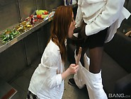 Red Haired Chick Kierra Wilde Tries To Cope With A Huge Black Pe