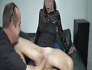 A Nymphet Fucks With An Old Man While Another One Penetrates Her