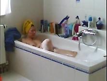 Hot Wife Caught Shaving Puss And Masturbating In Bath Room