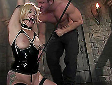Smoking Hot Blond Is Doing Some Hot Things With Her Master's Dic