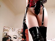 Latex Lover With Anal Toy