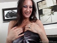 Fake Titty Milf Bends Over For Pussy Eating