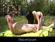Party Girl Nataly Meets An Old Man In The Woods And Fucks Him Sw