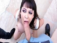 Dirty Belgian Slut Eva Karera Deepthroating Two Fat Cocks