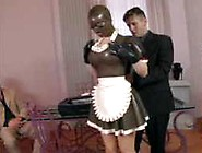 Latex Maid In Threesome