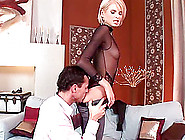 Captivating Blonde With Long Legs And Her Very First Anal Penetr
