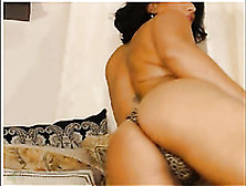 Dark Haired Tanned Cam Nympho In Black Was Bragging Of Her Bum