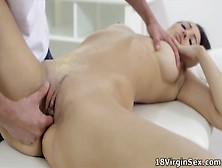 Tight Pussy Nika Has Her Masseuse Take Her Virginity.  She Loves