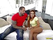 Tattooed Muscle Hunk Thrashing The Pussy Of Red Head Latina Gala