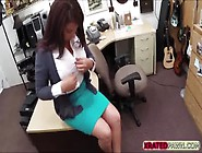 Hot And Nasty Brunette Milf Gets Her Pussy Punished By Shop Owne