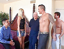 Tabitha James Enjoys Gangbang And Gets Facialed In Voyeur Sex Sc
