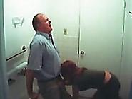 Hidden Cam Video With A Lewd Redhead Sucking An Older Man's Cock