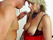 Voluptuous Blonde In Sexy Clothes Still Knows How To Ride The Sc