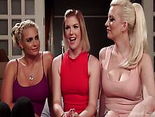 Steamy Lesbian Threesome Fuck