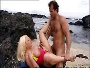 Curvy Blonde Hot Sex On The Beach