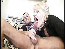 Blonde Takes It Like A Champ