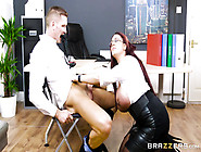 Long Haired Nympho Emma Butt Fucking In The Office