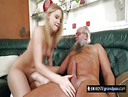 Lucky Grandpa Gets To Screw Nasty Teen