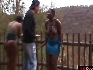 Busty Teen Slaves From Africa Tortured Outdoors