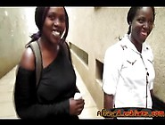 Couple Of Young Chubby Lesbians From Africa Make Love In Bathroo