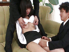 This Young Japanese Babe Is Showing Her Shaved Vagina