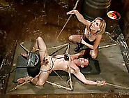 Wicked Blonde Milf Mona Wales Ties Up Her Male Slave And Sits On