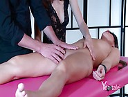 Sindy Black Plays A Model In A Four-Hand Massage Session With Ki