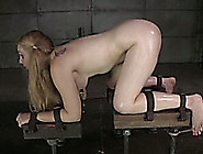 Pigtailed Blonde Bitch With A Mask On Her Face Punished