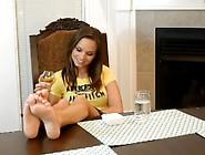 Ashley Sinclair's Feet Tickled