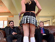 Nice Ass Cowgirl In Miniskirt Loving Big Cocks Dp In Mmf Porn