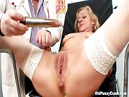Mature Beauty In Stockings And Boots Goes To Doctor