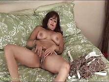 Saggy Tits Mature Gets Naked And Masturbates Her Box