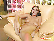 Busty Brunette Gets Her Pussy Finger Fucked And Squirts