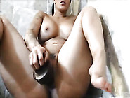 Extremely Huge Black Dildo Was A Great Help For Torrid Amateur M