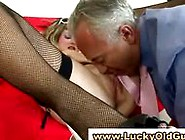 Lucky Old Man Fucks British Teen In Stockings In Mature Sex