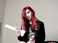 Shy Girl Shows Her Favorite Dildo And Talks About It
