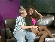 Black Shemale Chanel Couture Ass Fucking With Nasty Guy On Sofa