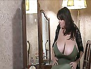 Sexy Brunette Busty Milf Milena Pours Baby Oil All Over Her Big