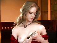 With Smooth Pussy Is Curious About Playing With Her Honeypot On