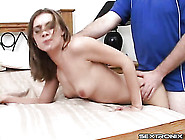 Skinny Cutie In His Bed For Cock In Her Pussy