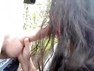 Outdoor Amateur Deepthroating Blowjob With Pov