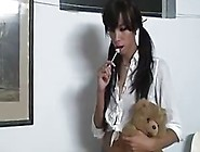 Young Brunette Deserves A Good Spanking