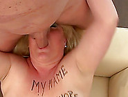 Horny Blonde Sucks Soft Dick