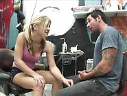 Misty Rivers Gets A Facial In The Tattoo Studio