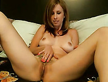 Gorgeous And Sexy Wife Masturbates In Bedroom Using Large Vibrat